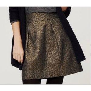 Ann Taylor LOFT Petites Metallic Jacquard Skirt